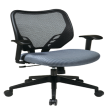 Office Star 81-V77N18P Dark Air Grid Back and Blue Mist VeraFlex Seat Manager's Chair