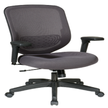 Office Star 829-1N2U Charcoal Mesh Seat and Back Chair