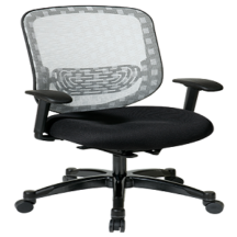 Office Star 829-3R1C728P Executive White DuraFlex with Flow-Thru Technology Back Chair