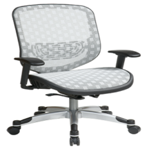 Office Star 829-R11C628P Executive White DuraFlex with Flow-Thru Technology Back and Seat Chair