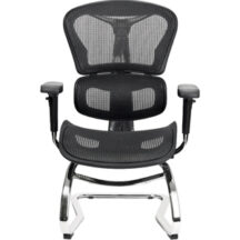 @theOffice 6 Series Guest Chair with Sled Base - Black