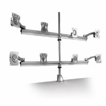 Symmetry Allure 4 Over 4 Parabolic Monitor Arm