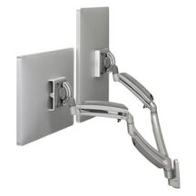 Symmetry Wall Mount Dynamic Height Adjustable Double Monitor Arm