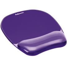 Fellowes Gel Crystals Mousepad Wrist Rest - Purple