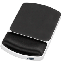 Fellowes Gel Wrist Rest and Mouse Pad - Graphite Platinum