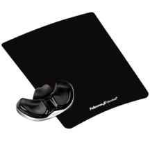 Fellowes Gliding Palm Support with Microban Protection - Black