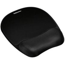 Fellowes Memory Foam Mouse Pad Wrist Rest- Black