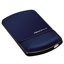 Fellowes Mouse Pad Wrist Support with Microban Protection - Blue