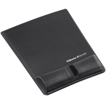 Fellowes Mouse Pad Wrist Support with Microban Protection- Grey