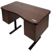 Healthy Desk Bamboo Traditional Standing Desk Cabinet Package