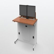 ISE Single User Dual Screen Electric Desk