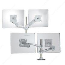 Richelieu Ergonomics Dual Arm Desk Mounts for LCD Flat Panels
