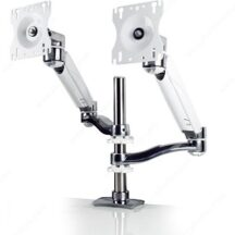 Richelieu Ergonomics Dual Screen Double Extension Arms with Height Adjustable Segment