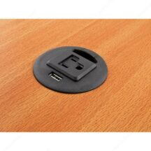 Richelieu Ergonomics Grommet with 1 USB Charge Port and 1 Outlet