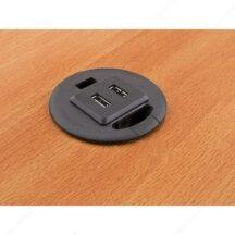 Richelieu Ergonomics Grommet with 2 USB Charge Ports
