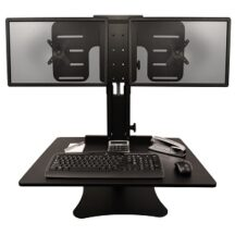 Victor DC350 High Rise Dual Monitor Sit-Stand Desk Converter