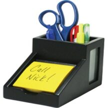 Victor Tech 95055 Midnight Black Pencil Cup with Note Holder
