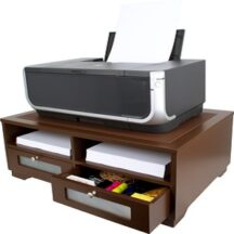 Victor Tech B1130 Mocha Brown Printer Stand