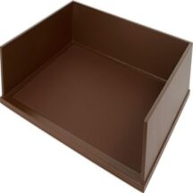 Victor Tech B1154 Mocha Brown Stacking Letter Tray