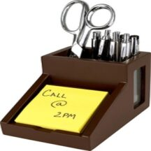 Victor Tech B9505 Mocha Brown Pencil Cup with Note Holder