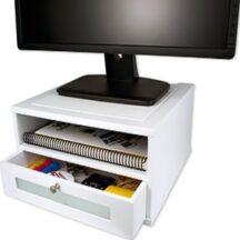 Victor Tech W1175 Pure White Monitor Riser