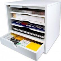 Victor Tech W4720 Pure White Desktop Organizer