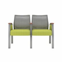 Allseating Foster Mesh Multiple Double with Full Arm Chair