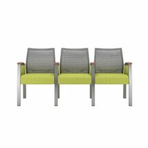Allseating Foster Mesh Multiple Triple with Full Arm Chair
