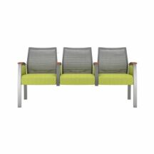Allseating Foster Mesh Multiple Triple with Half Arm Chair