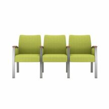 Allseating Foster Upholstered Multiple Triple with Full Arm Chair