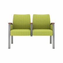 Allseating Upholstered Multiple Double with Half Arm Chair