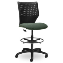 Seating Inc EDU2 Perforated Stools Casters and 4 Leg Chair