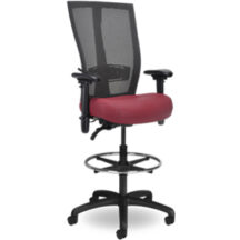 Seating Inc Grid SQ Stools Casters and 4 Leg 300 Chair