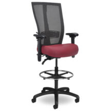 Seating Inc Grid SQ Stools Casters and 4 Leg 400 Chair