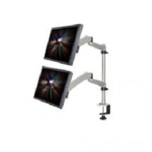Cotytech Dual Monitor Desk Mount 1x2 w Spring Arms and Quick Release