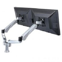 Cotytech Dual Monitor Desk Mount w Quick Release and Short Pole
