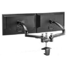 Cotytech Dual Monitor Stand Expandable w Spring Arms Dark Gray