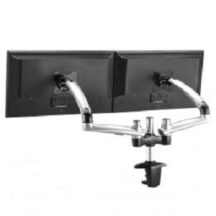 Cotytech Dual Monitor Stand Expandable w Spring Arms Silver