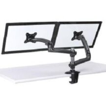 Cotytech Dual Monitor Stand w Spring Arms Dark Gray