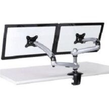 Cotytech Dual Monitor Stand w Spring Arms Silver