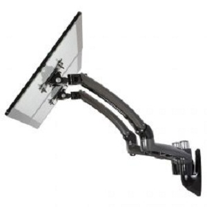 Cotytech Dual Monitor Wall Mount W Spring Arms Dark Gray