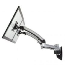 Cotytech Dual Monitor Wall Mount w Spring Arms Silver