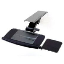 Cotytech Keyboard Tray Fully Fully Adjustable w Platform and Spring