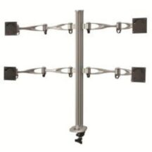 Cotytech Quad Monitor Stand 2X2 w Full Swing Arms