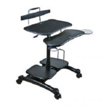 Cotytech Sit Stand Workstation w Wheels and Cable Manager