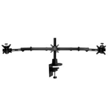 Ergotech Triple Monitor Desk Stand w Telescoping Wings