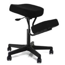 Jobri BetterPosture Solace Plus Kneeling Chair with Memory Foam Black BP1445BK