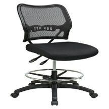 Office Star 13-37N30D Deluxe Dark AirGrid Back Drafting Chair