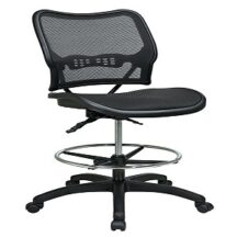Office Star 13-77N30D Deluxe Dark AirGrid Seat and Back Drafting Chair