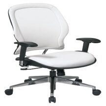 Office Star 33-Y22P91A8 White Vinyl Managers Chair